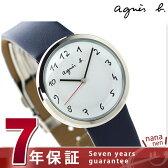 アニエスベー マルチェロ クオーツ レディース 腕時計 FCSK946 agnes b. ホワイト×ネイビー