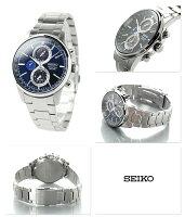 セイコースピリットスマートソーラークロノグラフSBPJ003SEIKO腕時計ネイビー