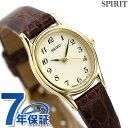 【10日はさらに+4倍でポイント最大28倍】 セイコー スピリット クオーツ レディース 腕時計 SSDA008 SEIKO SPIRIT アイボリー×ブラウン レザーベルト 時計【あす楽対応】・・・