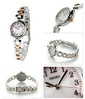 セイコーティセフルアラビアソーラーレディースSWFA165SEIKOTISSE腕時計ピンクグラデーション