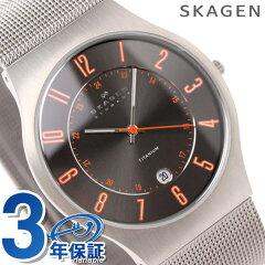 [新品][1年保証]スカーゲン SKAGEN 腕時計 チタニウム グレー/オレンジ 233XLTTMO【あす楽対応】