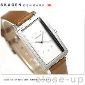 スカーゲン ハーゲン クオーツ レディース 腕時計 SKW2464 SKAGEN シルバー×ブラウン