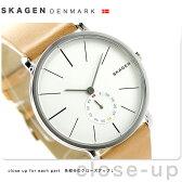 スカーゲン ハーゲン クオーツ メンズ 腕時計 SKW6215 SKAGEN シルバー×ライトブラウン【あす楽対応】