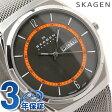スカーゲン 腕時計 メンズ チタニウム デイデイト グレー SKAGEN SKW6007