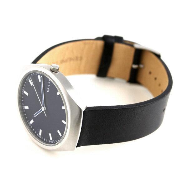 スカーゲン メンズ グレーネン 40mm クオーツ 腕時計 SKW6385 SKAGEN ネイビー×ブラック 時計【あす楽対応】