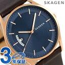 スカーゲン ホルスト 40mm 革ベルト メンズ 腕時計 SKW639...