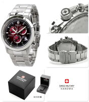 スイスミリタリーSWISSMILITALYメンズ腕時計ELEGANTCHRONOレッドML185