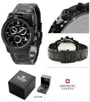 スイスミリタリーSWISSMILITALYメンズ腕時計ELEGANTCHRONOブラックML247