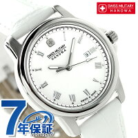 スイスミリタリーローマンレディース腕時計ML-410SWISSMILITARYホワイト