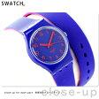 スウォッチ SWATCH 腕時計 スイス製 オリジナル レディース 二重巻き LS115 クオーツ ブルー 【あす楽対応】