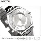 スウォッチ SWATCH 腕時計 スイス製 スキン シルバー SFK300G