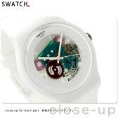 スウォッチ SWATCH 腕時計 スイス製 ニュージェント ホワイト ラッカード SUOW100