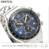 スウォッチ SWATCH 腕時計 スイス製 アイロニー クロノグラフ 43mm YVS423G
