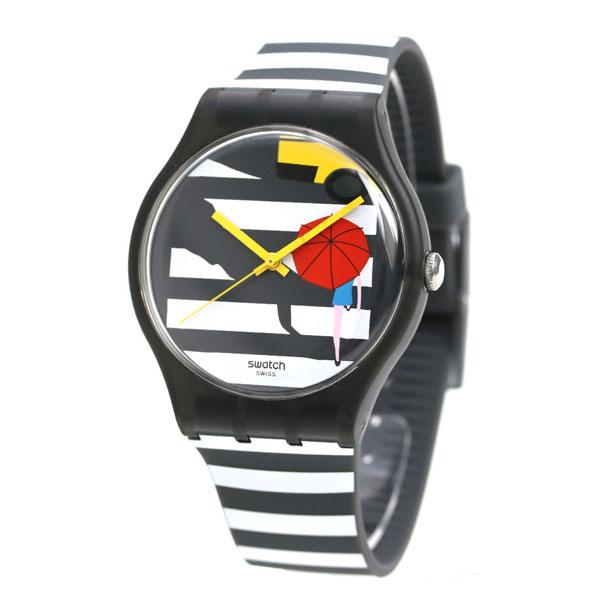 スウォッチ SWATCH オリジナル ニュージェント 腕時計 SUOM108 マルチカラー×ブラック 時計【あす楽対応】