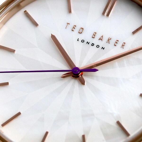テッドベーカー レディース 腕時計 ホワイトシェル 革ベルト TE50272005 TED BAKER ケイト 38mm 時計【あす楽対応】