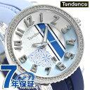 テンデンス クレイジー ミディアム 42mm レディース 腕時計 TY930064 TENDENCE ブルー 時計【あす楽対応】