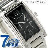 ティファニー グランド 自動巻き メンズ 腕時計 Z0031.68.10A10A00A TIFFANY&Co. ブラック メタルベルト 新品