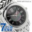 ティファニー マーク クオーツ 腕時計 Z0046.17.10A90A00A TIFFANY&Co. ブラックシェル メタルベルト 新品