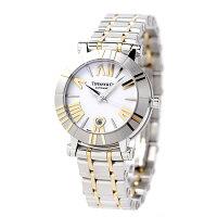 ティファニーアトラス30mm自動巻きK18YGレディース腕時計Z1300.68.16A20A00ATIFFANY&Co.ホワイト×イエローゴールドメタルベルト新品