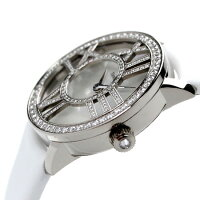 ティファニー アトラス カクテル ラウンド 26mm K18WG ダイヤモンド レディース 腕時計 Z1900.10.40E91A40B TIFFANY&Co. ホワイトシェル サテンレザー 新品