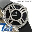ティファニー アトラス カクテル ラウンド 30mm K18WG Z1901.10.40E10A40B TIFFANY&Co. レディース 腕時計 ダイヤモンド ブラック サテンレザー 新品