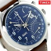 タイメックス インテリジェント クロノグラフ クオーツ TW2P78800 TIMEX 腕時計 ブルー×ブラウン