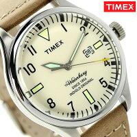 タイメックスウォーターベリーメンズ腕時計TW2P83900TIMEXクリーム×タン