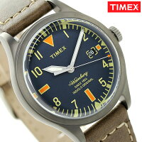 タイメックスウォーターベリーメンズ腕時計TW2P84400TIMEXネイビー×ブラウン