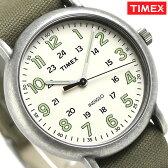 タイメックス ウィークエンダー ヴィンテージ 40mm 腕時計 TW2P85900 TIMEX クリーム×カーキ