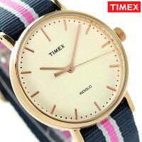 タイメックスウィークエンダーフェアフィールド37mmTW2P91500TIMEX腕時計ナチュラル×ネイビー