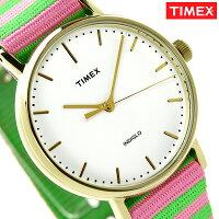 タイメックスウィークエンダーフェアフィールド37mmTW2P91800TIMEX腕時計ホワイト×グリーン
