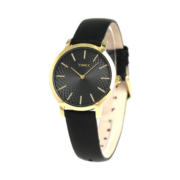 タイメックス スカイライン 34mm レディース 腕時計 TW2R36400 TIMEX ブラック×ブラック 時計【あす楽対応】