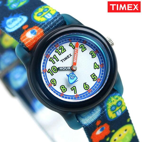 店内ポイント最大43倍!26日1時59分まで! タイメックス タイムマシーン モンスター キッズ 腕時計 TW7C25800 TIMEX 子供用 時計 ホワイト×ネイビー【あす楽対応】