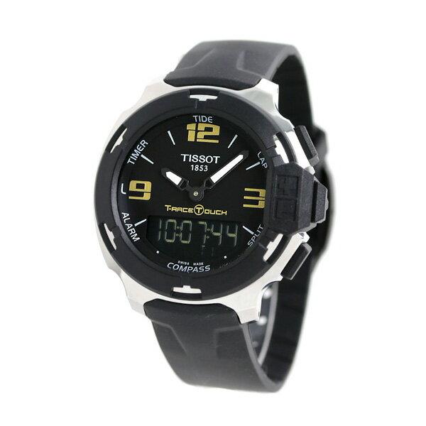ティソ 腕時計 T-レース タッチ タイドグラフ 方位計 T081.420.17.057.00 TISSOT メンズ 時計 アナデジ ブラック【あす楽対応】