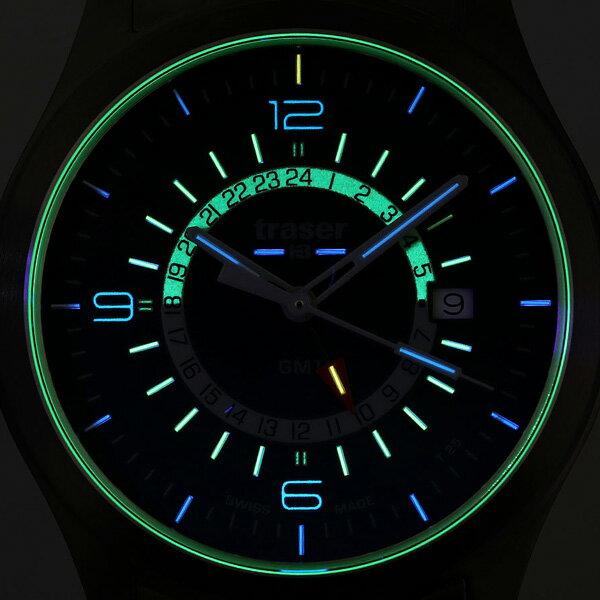 トレーサー オーロラ GMT ブルー 42mm メンズ 腕時計 9031574 traser 時計