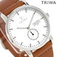 トリワ TRIWA ファルケン アイボリー 38mm 腕時計 FAST103-CL010212 ホワイト×ブラウン【あす楽対応】