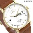 トリワ TRIWA クリンガ アイボリー 38mm 腕時計 KLST103-CL010213 ホワイト×ブラウン