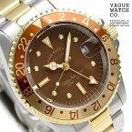【5日はさらに+4倍でポイント最大38倍】 ヴァーグウォッチ ブラウン GMT 40mm メンズ 腕時計 BG-L-001-SB VAGUE WATCH Co. 時計