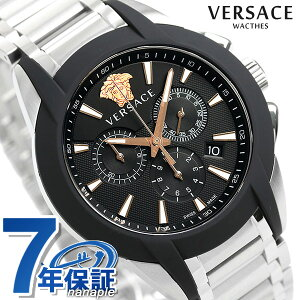 【15日は全品5倍でポイント最大22倍】 ヴェルサーチ 時計 メンズ 腕時計 キャラクター クロノグラフ スイス製 VEM800218 VERSACE ブラック 新品【あす楽対応】