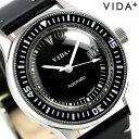 ヴィーダ プラス VIDA+ ヘリテージ 42mm 自動巻き メンズ 45920 LE-BK 腕時計 ブラック 時計