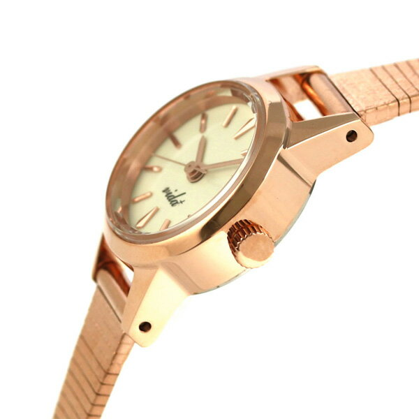 ヴィーダ プラス VIDA+ V ジャパンメイド 19mm レディース V-006P 腕時計 クリーム 時計