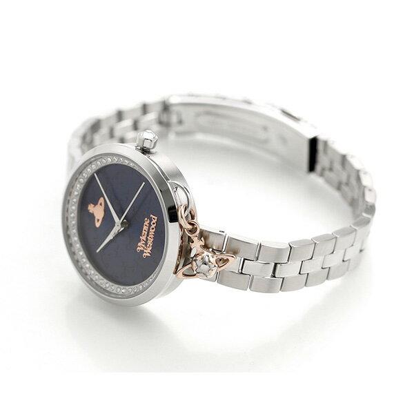 ヴィヴィアン 時計 レディース ボウ 32mm 腕時計 VV139NVSL Vivienne Westwood ネイビー