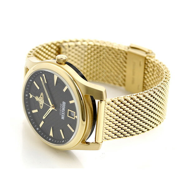 ヴィヴィアン 時計 メンズ 腕時計 VV185BKGD Vivienne Westwood ブラック×ゴールド