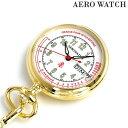 アエロウォッチ 懐中時計 ナースウォッチ 心拍計測 32825 JA02 AEROWATCH ゴールド