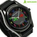 腕時計 キッズ 子供用 アンペルマン クオーツ AMA-2034-05 AMPELMANN オールブラック 時計