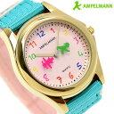 【15日は全品5倍でポイント最大22倍】 腕時計 キッズ 子供用 アンペルマン クオーツ AMA-2034-22 AMPELMANN ライトピンク 時計・・・
