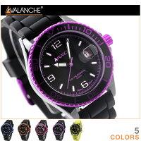 アバランチ腕時計デイトデラックスセラミックラバーベルトAVALANCHEAV-1017CER