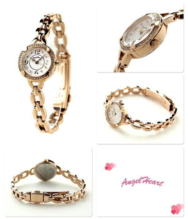 エンジェルハート フォーハート レディース 腕時計 FH22PW Angel Heart ホワイト×ピンクゴールド 時計