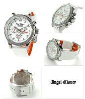 エンジェルクローバーリュクスマスタークロノグラフLM46SWZ-WHAngelClover腕時計ホワイト