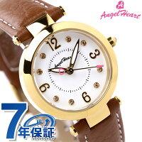 エンジェルハート腕時計レディースラブタイムホワイト×ブラウンレザーAngelHeartLV26YG-BW